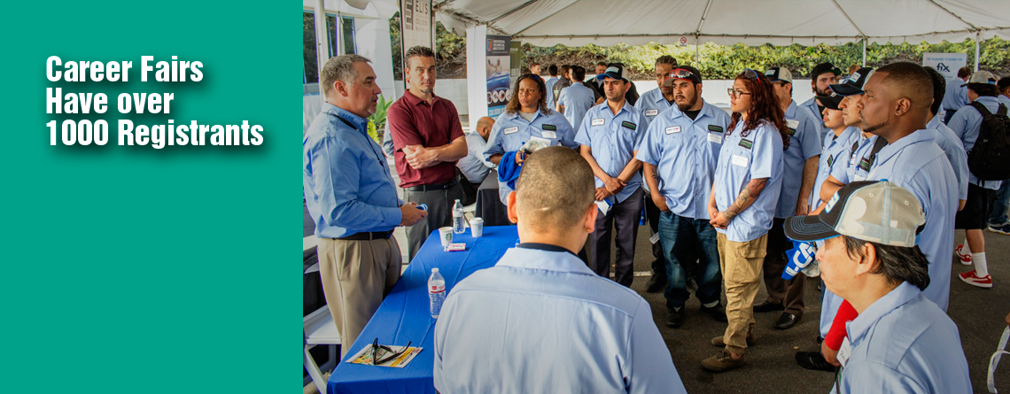 STUDENT REGISTRATION TOPS 1000 AT NEXT THREE COLLISION REPAIR EDUCATION FOUNDATION SPRING CAREER FAIRS