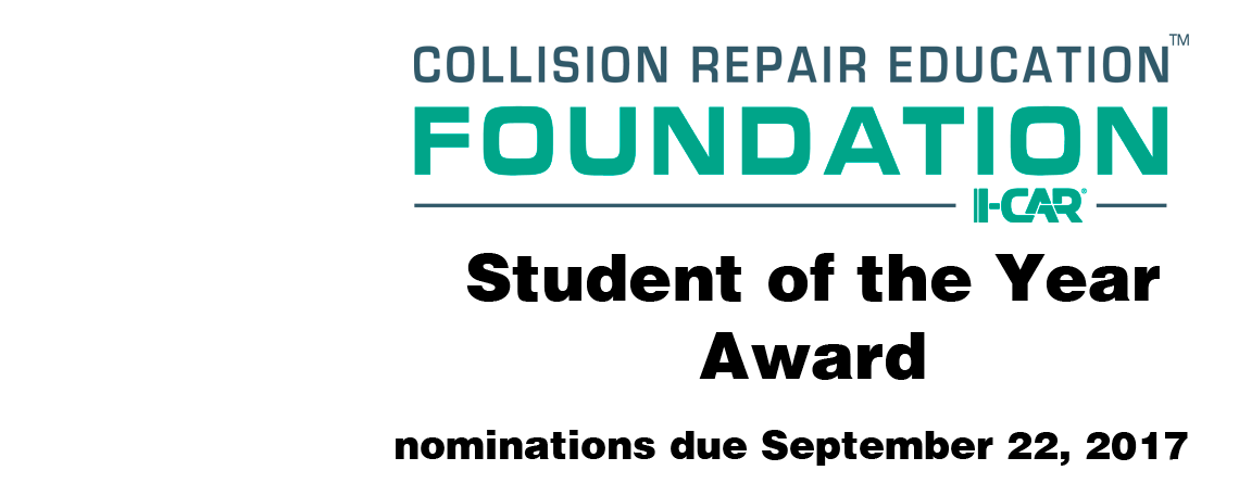 Student of the Year Nominations Due September 22, 2017