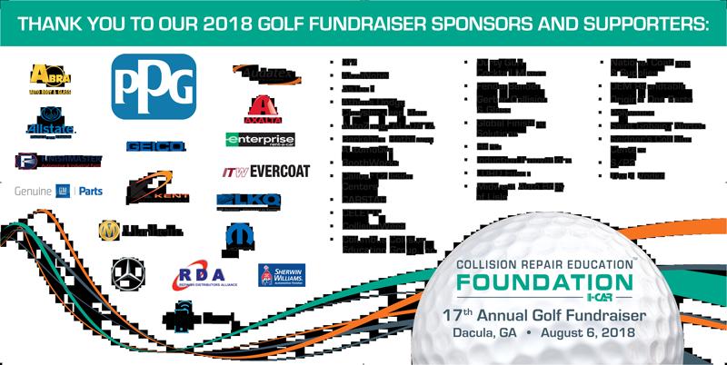 2018 Collision Repair Education Foundation Golf Sponsors