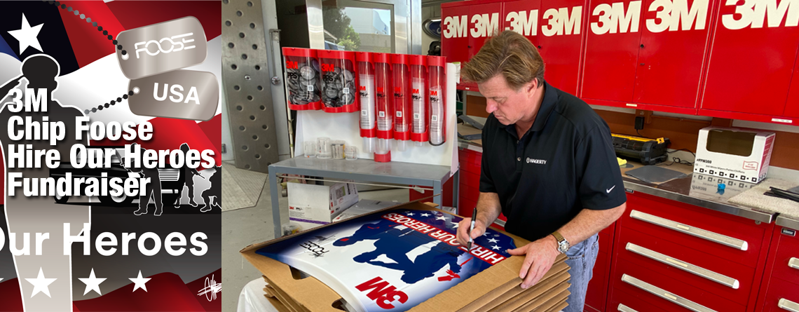 3M Donates Signature Event with Chip Foose to Support Military Veterans and Collision School Programs